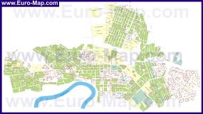 Подробная карта города Тирасполь с улицами и номерами домов