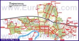 Схема движения маршрутных такси Тирасполя