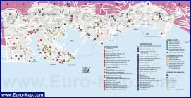 Карта Монако с достопримечательностями