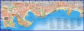 Подробная карта Монако