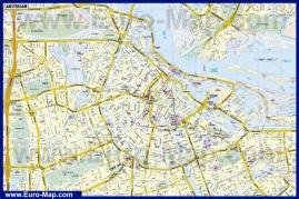 Подробная карта Амстердама