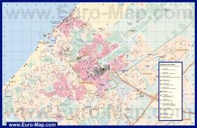 Подробная карта Гааги с достопримечательностями