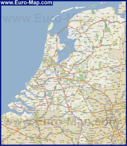 Карта дорог Нидерландов