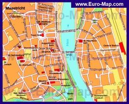 Карта Маастрихта с достопримечательностями
