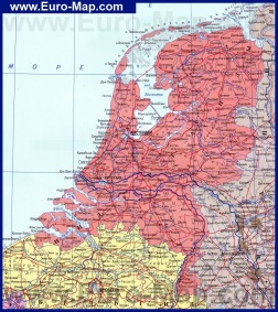 Подробная карта Нидерландов на русском языке