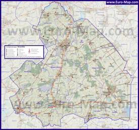 Подробная карта провинции Дренте