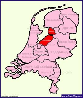 Флеволанд на карте Нидерландов