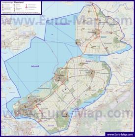 Подробная карта провинции Флеволанд