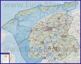 Карта дорог Фрисландии