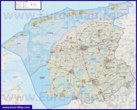 Подробная карта провинции Фрисландия