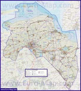 Подробная карта провинции Гронинген