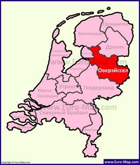 Оверэйссел на карте Нидерландов