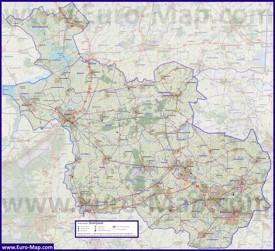 Подробная карта провинции Оверэйссел
