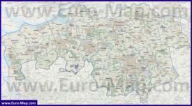 Карта дорог Северного Брабанта