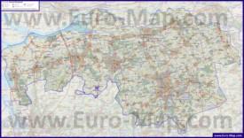 Подробная карта провинции Северный Брабант