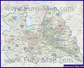 Карта дорог провинции Утрехт