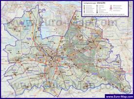 Подробная карта провинции Утрехт
