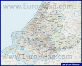 Карта дорог Южной Голландии
