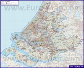 Подробная карта провинции Южная Голландия