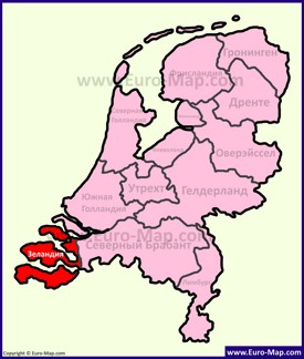 Зеландия на карте Нидерландов