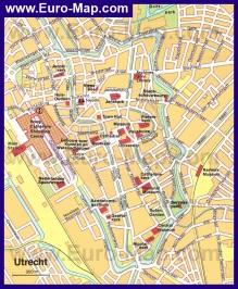 Карта Утрехта с достопримечательностями