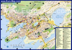 Подробная карта Бергена