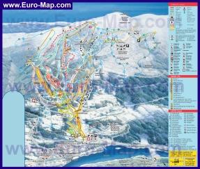Карта горнолыжного курорта Хафьелль (Лиллехаммер) с трассами