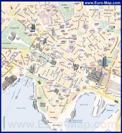 Карта Осло с достопримечательностями