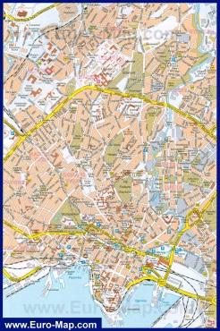 Подробная карта Осло