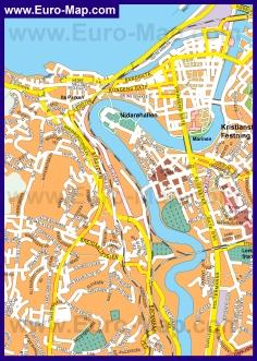 Подробная карта города Тронхейм