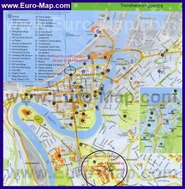 Туристическая карта Тронхейма