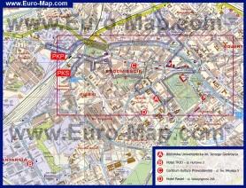 Карта Белостока с отелями