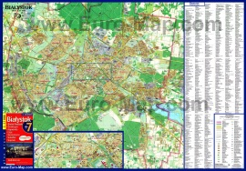 Подробная карта Белостока с улицами