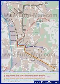 Карта транспорта Эльблонга