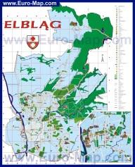 Туристическая карта города Эльблонг