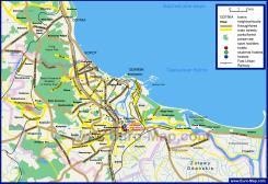 Подробная карта города Гданьска с окрестностями
