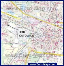 Карта города Катовице