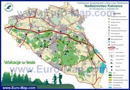 Туристическая карта окрестностей Катовице