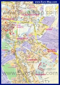 Подробная карта города Люблин