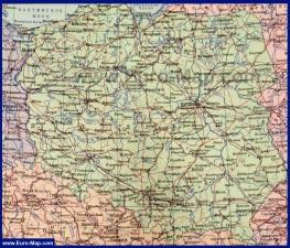 Подробная карта Польши на русском языке