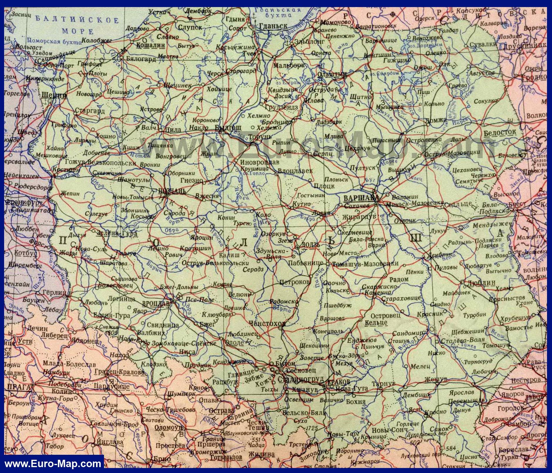Карта испании на русском языке карты