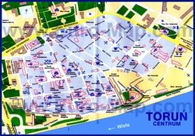 Туристическая карта Торуни