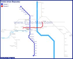 Карта (схема) метро Варшавы