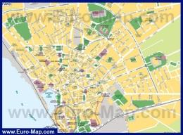 Подробная карта города Фару