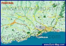 Подробная карта Фуншала