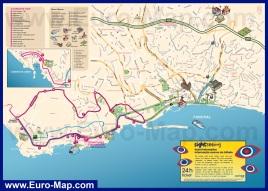 Туристическая карта Фуншала с достопримечательностями