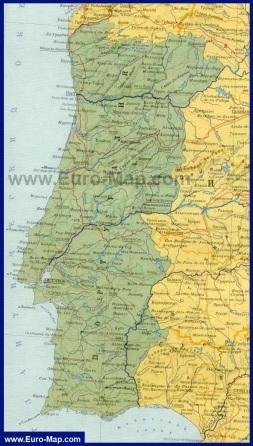 Карта Португалии на русском языке
