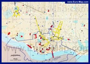 Подробная карта города Порту