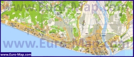 Подробная туристическая карта побережья Адлера