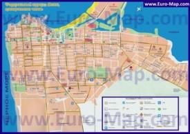Карта центра Анапы